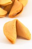 Closeup of Chinese fortune cookie. Many Chinese fortune cookie one stand out, on white background, closeup Royalty Free Stock Photos