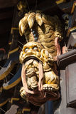 Closeup of a chinese golden dragon statue Royalty Free Stock Photography