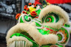 Closeup Chinese lion mask Stock Photo