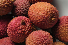 Closeup of Chinese lychee fruit Stock Images