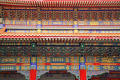 Closeup chinese temple architecture Stock Photos