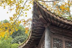 Closeup of Chinese temple eaves Stock Images