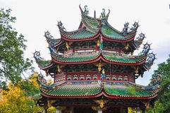 Closeup of Chinese Temple Pagoda. This is the closeup of Chinese Temple Pagoda in South Putuo Temple at Xiamen city of Fujian province, china royalty free stock photo