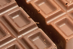 Energy nutrition and calories. Close-up of dark and milk chocolate. Highly nutritious snack Stock Image