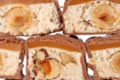 Closeup of chocolate bar Royalty Free Stock Image