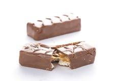 Closeup of chocolate bar Stock Photography