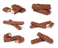 Closeup of chocolate bar Stock Photo