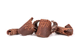 Closeup of chocolate chips on Stock Photography