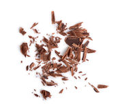 Closeup of chocolate chips Royalty Free Stock Photo