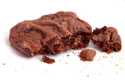 Closeup chocolate chunk cookie Royalty Free Stock Images
