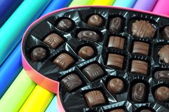 Closeup of chocolate Stock Image
