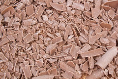 Closeup of chocolate crumbs texture Royalty Free Stock Image