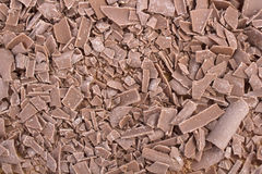 Closeup of chocolate crumbs texture Stock Photography