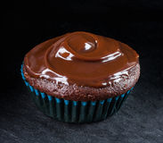 Closeup of chocolate muffin Royalty Free Stock Photography