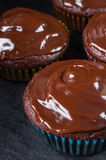 Closeup of chocolate muffin Stock Photography