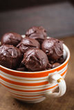 Closeup chocolate truffle candies Royalty Free Stock Photography