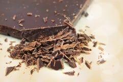 Closeup of chopped chocolate Stock Photography