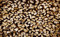 Closeup of chopped fire wood stack Royalty Free Stock Photography