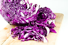 Closeup of Chopped Red Cabbage Stock Photography
