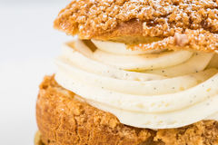 Closeup of Choux a la creme Royalty Free Stock Photos