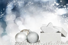 Closeup on Chrismas balls Royalty Free Stock Photos