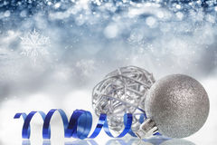 Closeup on Chrismas balls Royalty Free Stock Photo