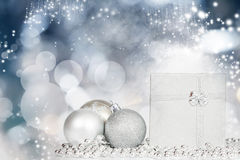 Closeup on Chrismas balls Royalty Free Stock Image