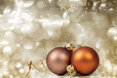 Closeup on Chrismas balls Stock Photography