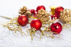 Closeup on Chrismas decorations Royalty Free Stock Photo