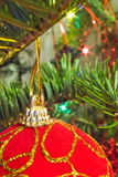 Closeup of christmas ball Royalty Free Stock Image
