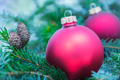 Closeup of Christmas ball from Christmas tree Stock Photography