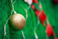 Closeup Christmas ball from Christmas tree Royalty Free Stock Photo