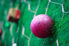Closeup Christmas ball from Christmas tree Stock Photo