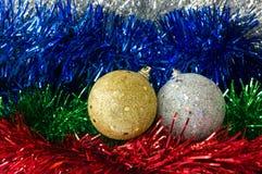 Closeup of Christmas balls Royalty Free Stock Photos
