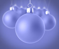 Closeup christmas balls Royalty Free Stock Image