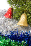 Closeup of Christmas bells. Stock Photos