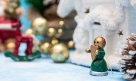 Closeup of christmas decoration. Christmas decorations on the Christmas tree. closeup of New Year`s toys. Santa Claus. Christmas stock photos