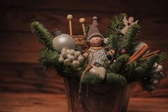 Closeup of a christmas decoration Stock Images