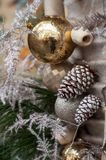 Christmas decoration in the street Royalty Free Stock Images