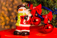 Closeup of Christmas decorations Stock Image