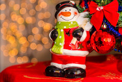 Closeup of Christmas decorations Royalty Free Stock Images