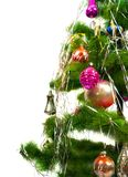 Closeup of Christmas fir tree Royalty Free Stock Images
