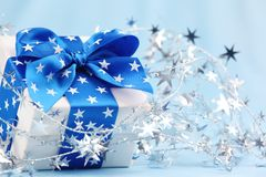Closeup of Christmas gift Stock Image