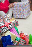 Closeup Of Christmas Presents Stock Photos