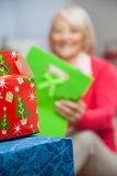 Closeup Of Christmas Presents Royalty Free Stock Photo