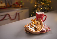 Closeup on christmas snack on kitchen table Stock Photography