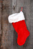 Closeup christmas sock hanging Stock Photo