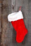 Closeup christmas sock hanging Stock Photo