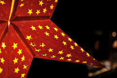Closeup of christmas star Royalty Free Stock Images