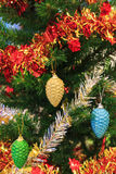 Closeup of Christmas-tree. Colorfull christmas-tree with colorfull fruit Royalty Free Stock Photos